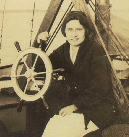 Photo of a woman from the early 1900's on the Nellie H