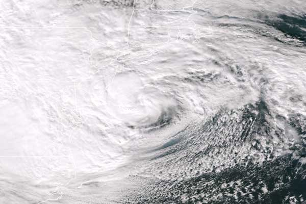Photo of Superstorm Sandy from Space