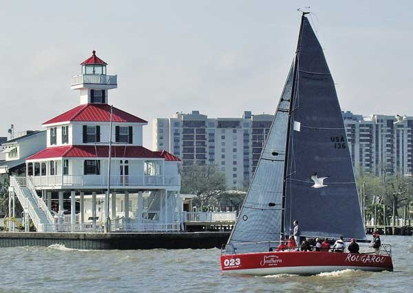 Photo of the New Basin Canal Lighthouse
