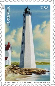 Lighthouse Stamp for New London Harbor, Connecticut