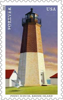 Lighthouse Stamps for Point Judith, Rhode Island