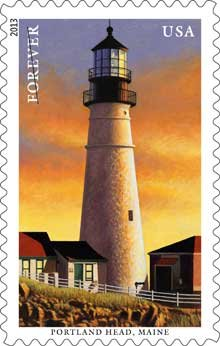 Lighthouse Stamp for Portland Head, Maine