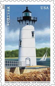 Lighthouse Stamp for Portsmouth Harbor, New Hampshire