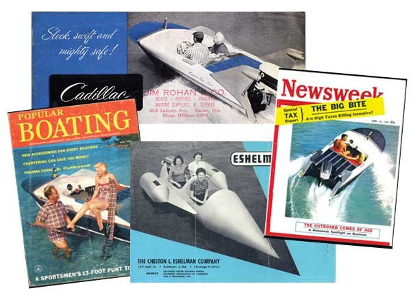 Photo of boat literature from 1957