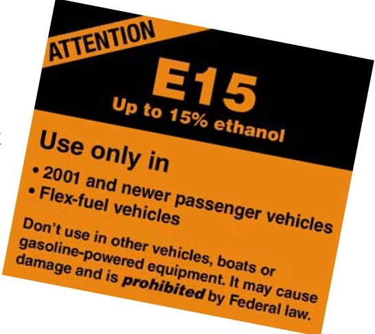 EPA label for E15