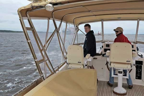 Photo of the author on his boat in the ICW