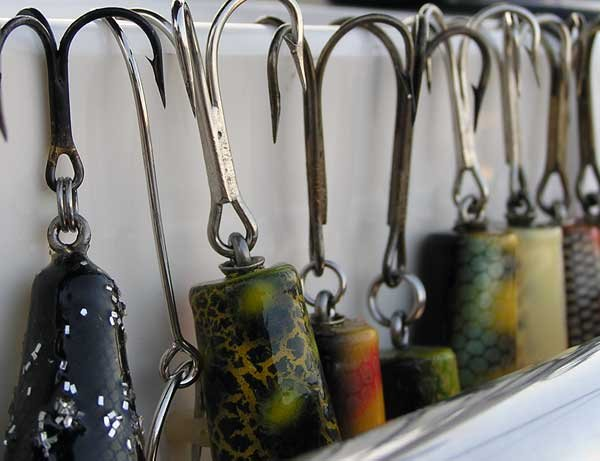 Photo of color fishing hooks