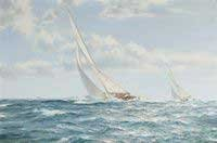 12-Meter sloop Weatherly, by noted marine artist Montague J. Dawson