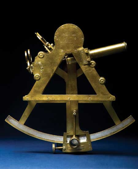Photo of a sextant