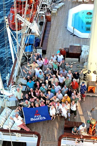 Photo of a group of BoatUS members on Royal Clipper cruise