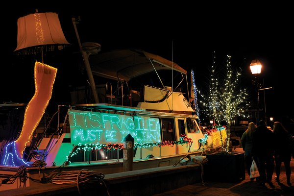 Photo of the A Christmas Story-themed 43-foot Tollycraft Windarra
