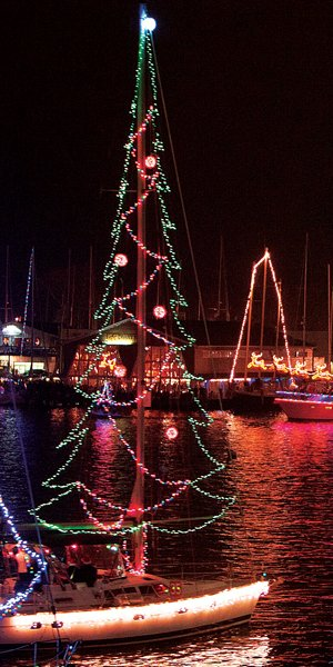 designing a holiday lights display for your boat