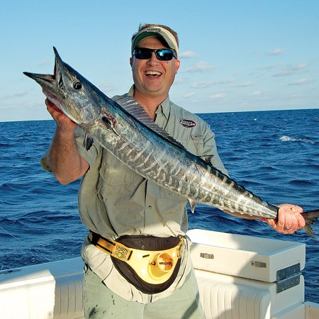 Photo of man holding fresh wahoo
