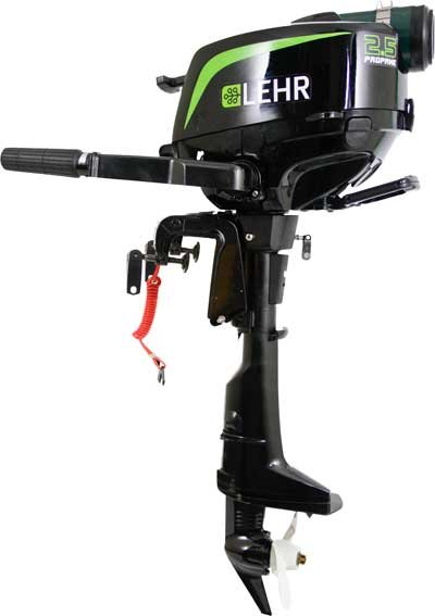 Photo of the Lehr 2.5 hp outboard engine