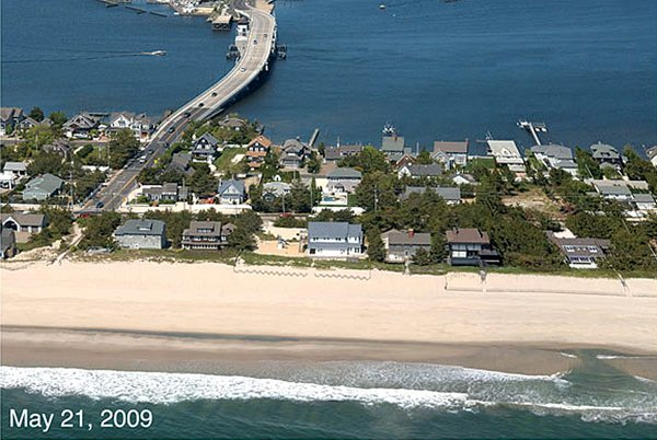 Photo of the Mantoloking NJ coastline before Hurricane Sandy
