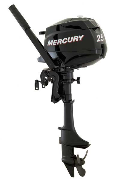 Photo of the Mercury Marine 2.5 hp outboard engine