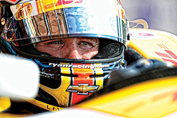 Photo of Ryan Hunter-Reay in his auto racing gear