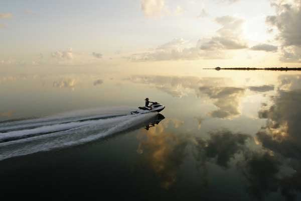 Photo of a 2012 Sea-Doo GTX 215 on the water at sunrise