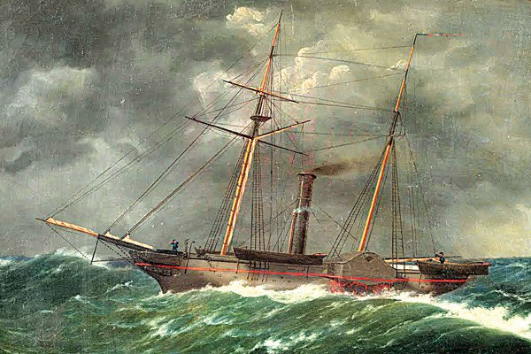 Photo of a painting of the U.S. Coast Survey steamer Robert J. Walker