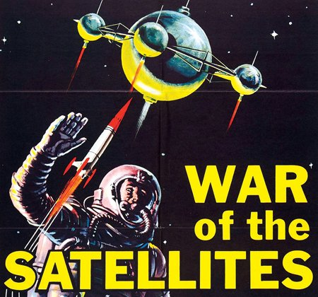 Illustration of a War of the Satellites comic book