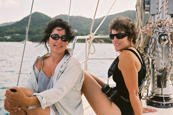 Photo of women on a sailing the Grenadines
