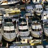 Photo of boats in a boatyard