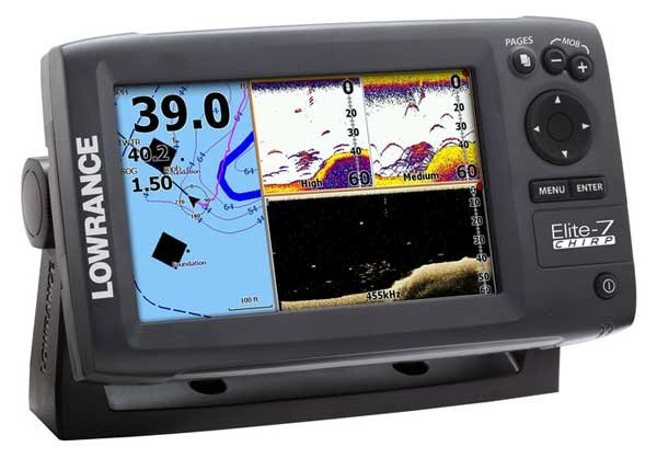 Photo of the Lowrance Elite 7 CHIRP