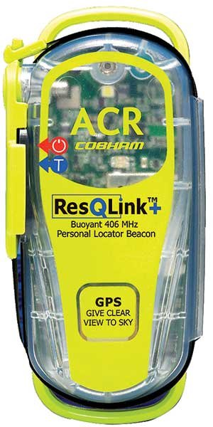 Photo of a personal locator beacon