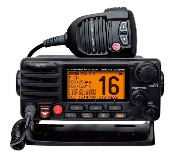 Photo of the Standard-Horizon Matrix AIS/GPS GX2200