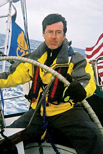 Photo of Stephen Colbert sailing