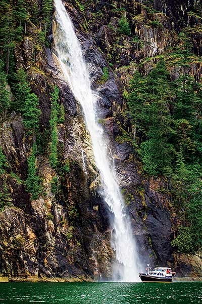 Photo of waterfalls in Toba Inlet