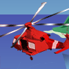 Rescue helicopter illustration
