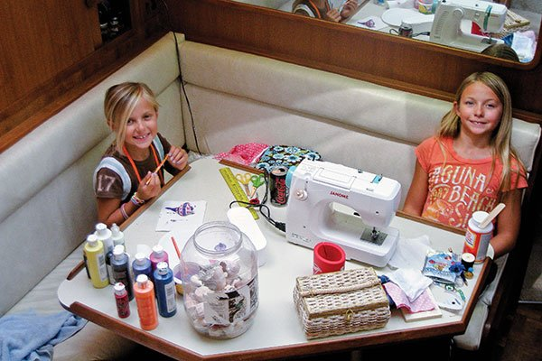 Photo of arts and crafts projects aboard