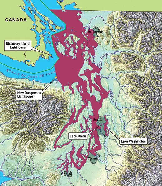 Proposed no discharge zones map for Puget Sound