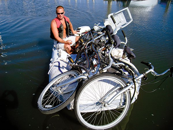 Photo of travelling with tandem bikes