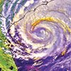 Thumbnail NOAA satellite image of hurricane approaching Florida