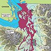 Proposed discharge zone map for Puget Sound