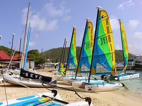 Photo of sailboats on the beach