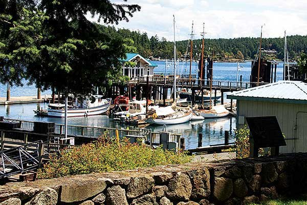 Photo of view of Friday Harbor from San Juan Island