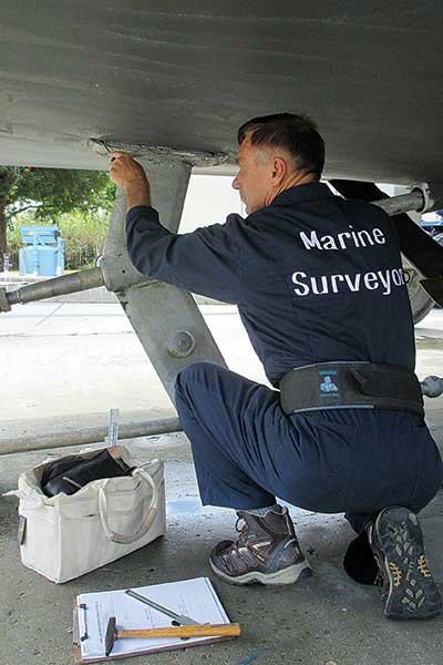 Photo of a marine surveyor