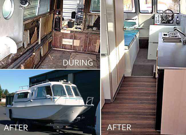 Sea Camp boat renovation