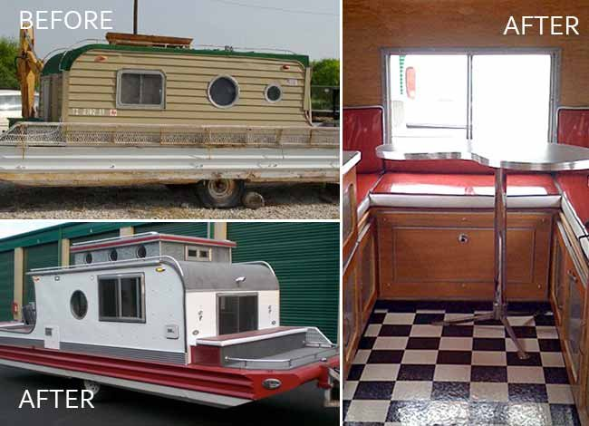 Terra Marina houseboat renovation