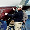 Thumbnail photo ofa boat inspection