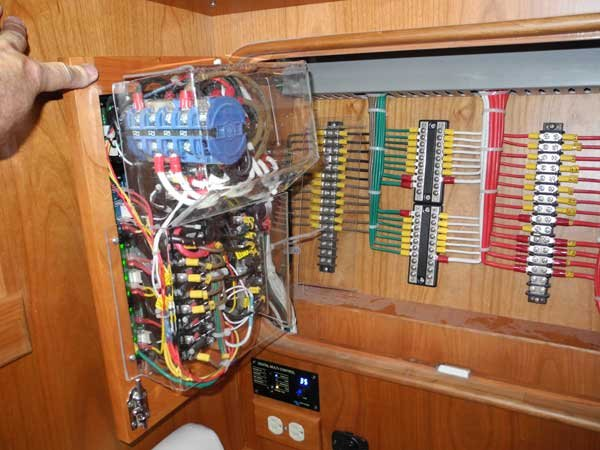 boat electrical system create your own wiring diagram boatus magazine Electrical Power Distribution Panel at nearapp.co