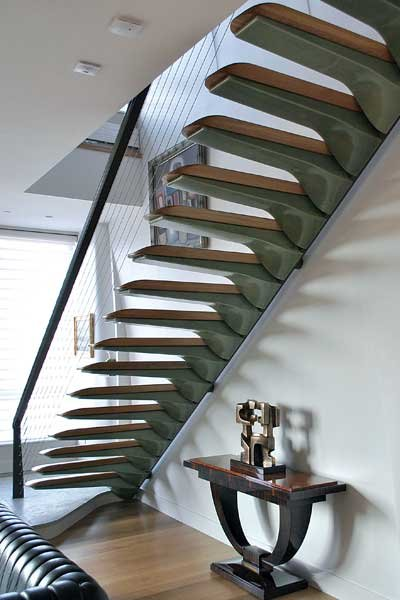 Photo of a cantilevered composite staircase
