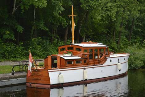 Photo of wooden boat on the canal