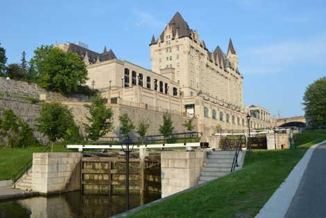 Photo along the Rideau Canal in Ottawa Canada