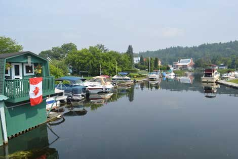 Photo of Westport Harbour along the canal