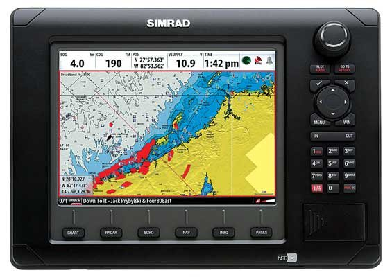 Photo of the Simrad NSE 8 multifunction display