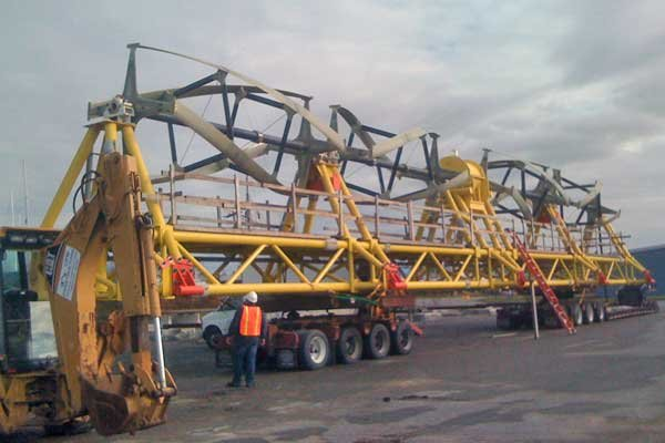 Photo of a tidal-turbine being transported